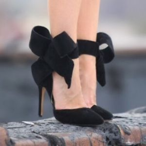 Aminah Abdul Jillil Shoes - SALE 🖤🖤Amina Abdul Jilli Black Bow Pumps